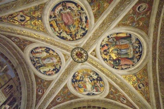 Vatikanische Museen (Musei Vaticani): Um dos vários afrescos do Museu