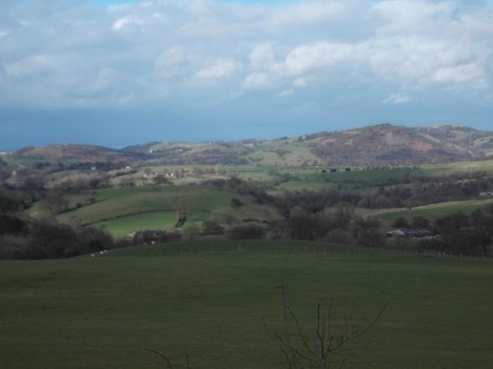 The Palace Hotel : gorgeous scenery on the way from Holmes Chapel to Buxton