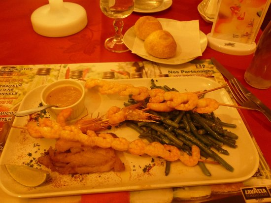 Mille Pates Matoury: Brochette de crevettes