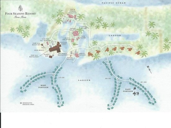 Resort Map - Picture of Four Seasons Resort Bora Bora, Bora Bora ...