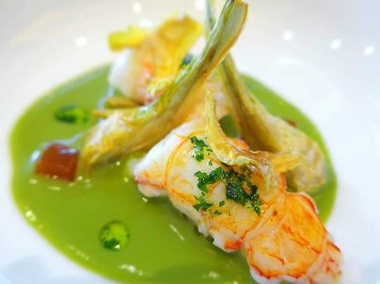 Restaurant Sant Pau: Prawns with artichoke