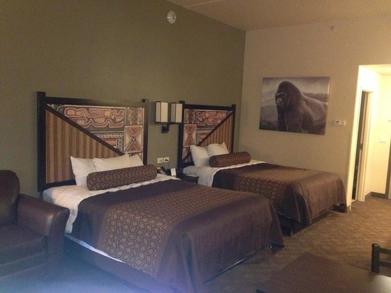 Kalahari Resorts & Conventions: Two queen beds & pullout couch room