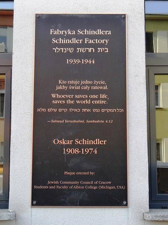 Jewish District (Kazimierz): Frente de la fábrica de Oscar Schindler