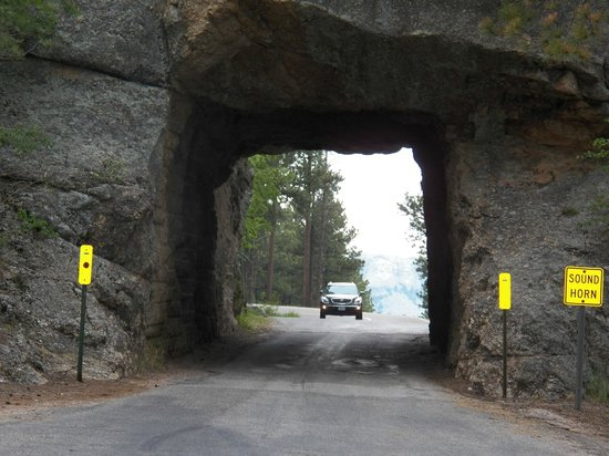 Iron Mountain Road : Tunnel on the road