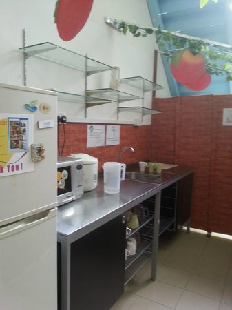 The Mitraa: Kitchen area to refill water