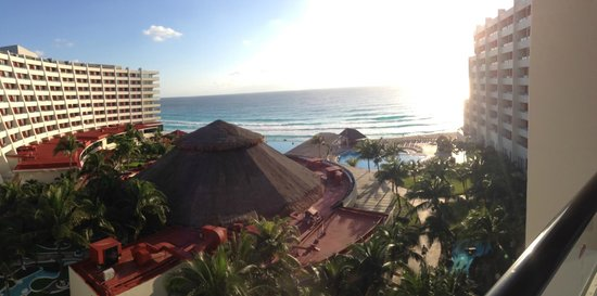 Crown Paradise Club Cancun: View from room.