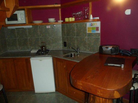 Casa del Bosque Aparts & Suites: Cocina