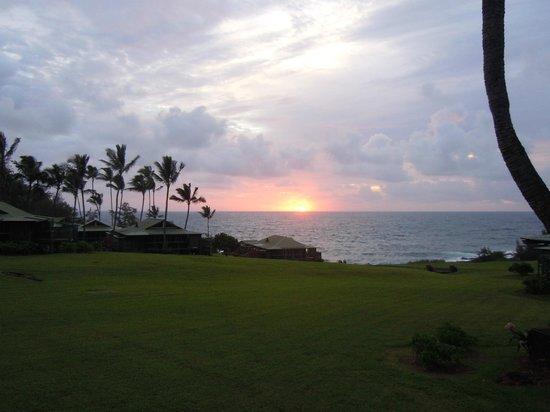 Travaasa Hana, Maui: Sunrise from our own private deck.