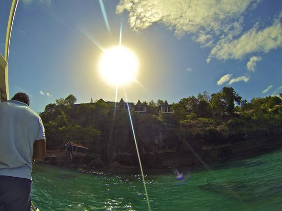 Ti Kaye Resort & Spa: view from the water (goPro)