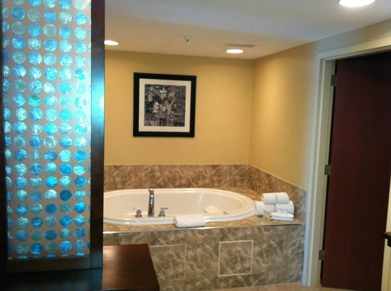 Hampton Inn & Suites Chicago North Shore/Skokie: whirlpool area between bathroom and bedroom