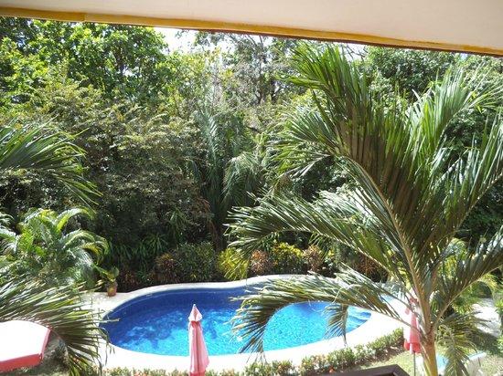 Hotel Belvedere - Playa Samara: Aussicht vom Neubau, 1 Stock, 1 Zimmer