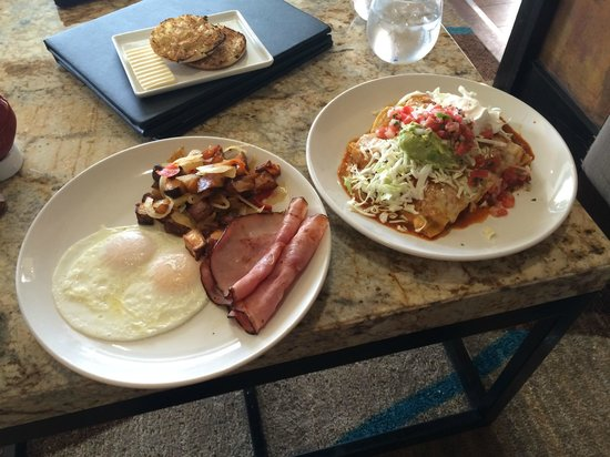 Jamaica Bay Inn: All American & Breakfast Enchilladas