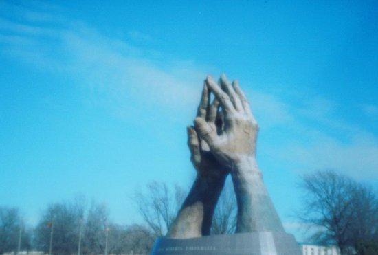 Oral Roberts University: Praying Hands at ORU