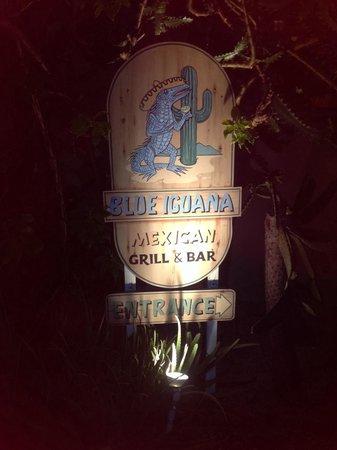 Blue Iguana entrance