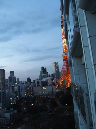 The Prince Park Tower Tokyo : 東京タワーはベランダからギリ見える程度でした