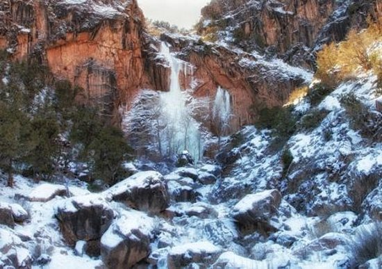 Colorado National Monument : No Thoroughfare Canyon Trail in January