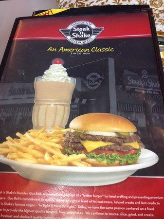 Steak 'n Shake : Menu