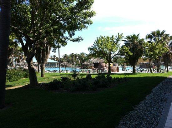 PortAventura Hotel Caribe: Piscina y jardín