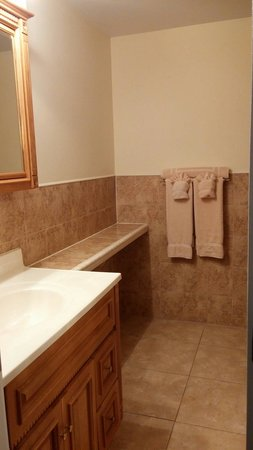 Hideaways at Palm Bay: Nice size full bathroom off the bedroom