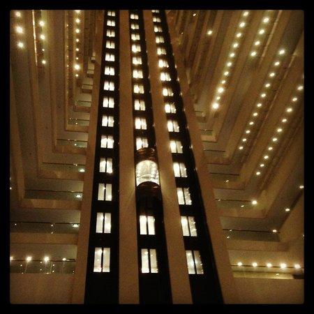 Hilton Brisbane: Glass Elevators