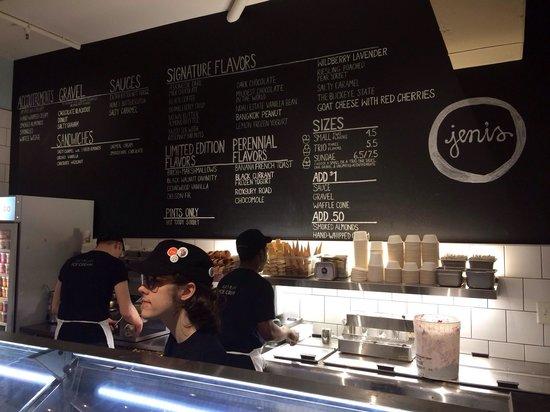 Jeni's Splendid Ice Creams: Front counter