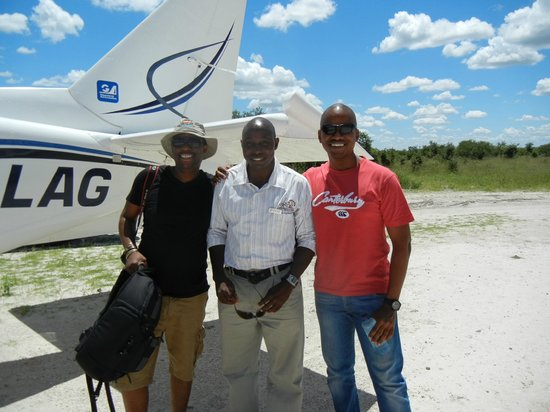 "Camp Savuti: Our guide ""Jonas"" in the middle! Amazing guide!"