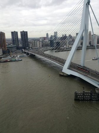 "nhow Rotterdam: view from 19th floor ""sunset room"""