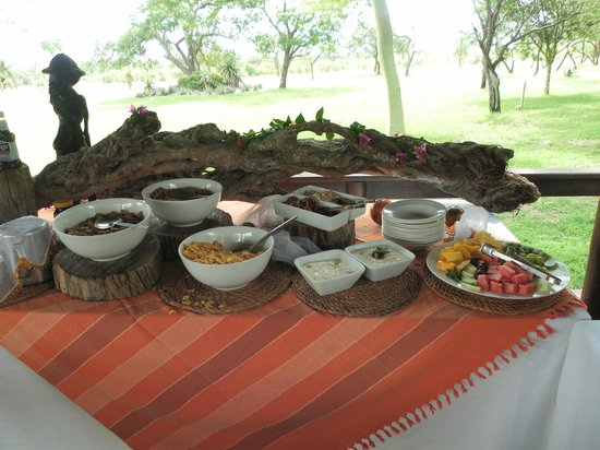 Nkorho Bush Lodge: Breakfast after the morning ride