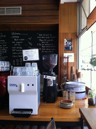 Amelia Espresso: Mix of local coffee that Amelia uses