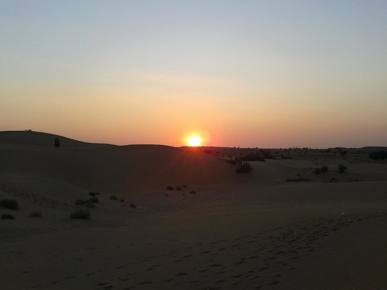 Sky Desert Safari : Sun Set View At Desert Jaislmer
