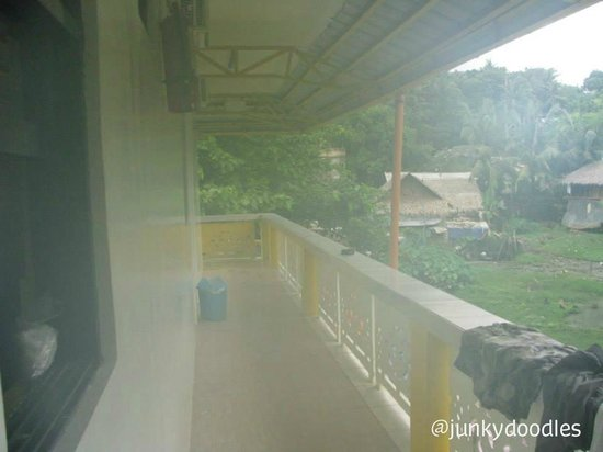 Bambooze Hauz: View, our room was at the back of the building.