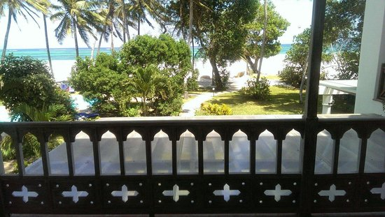 Galu Sea Lodge -Tamani: Glorious view from bedroom balcony...