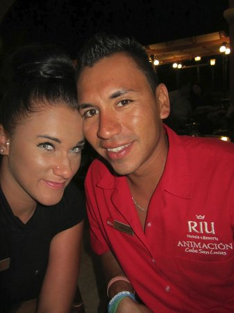 Hotel Riu Palace Cabo San Lucas: Jenny and Angelo