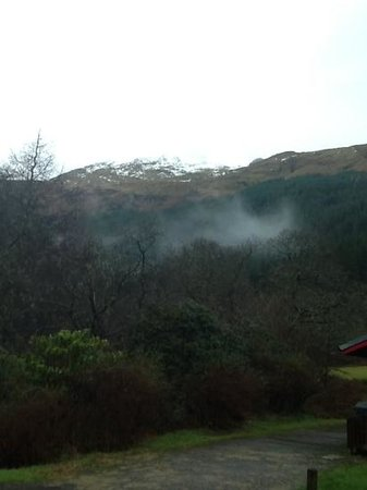 Arrochar Hotel : a we walk up to Ardgartan