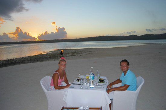 Aitutaki Lagoon Resort & Spa : Candle light dinner