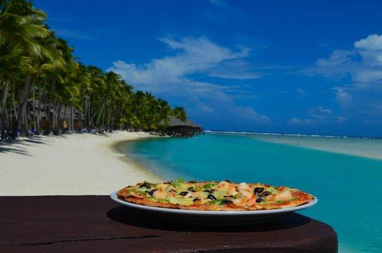 Aitutaki Lagoon Resort & Spa: Pizza yummy