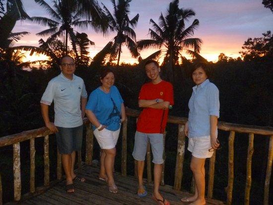 Bali Pulina Agro Tourism: Sunset at Tegalalang