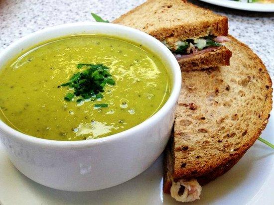 The Wild Flour: Soup and sandwich