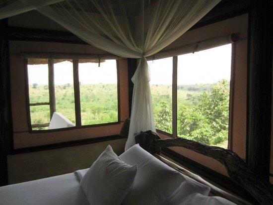 Kyambura Game Lodge: Views from the bedroom