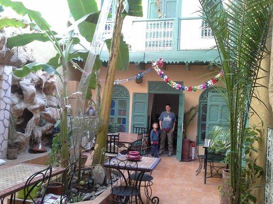 Riad Dar Mchicha : Il cortile interno