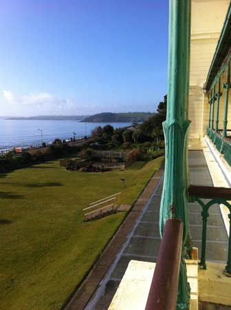 The Falmouth Hotel: Looking down the coast from balcony