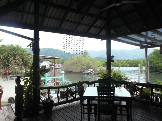 The Mangrove Hideaway Koh Chang: view from the breakfast/dining area
