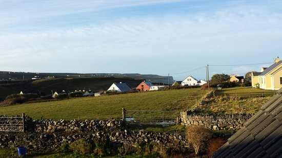 View from bedroom window this morning Daly's House Doolin Co Clare