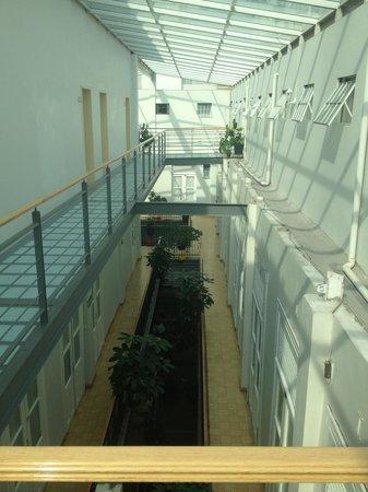 Hotel Principal: Le quatrième étage, à droite les chambres à 180 pesos