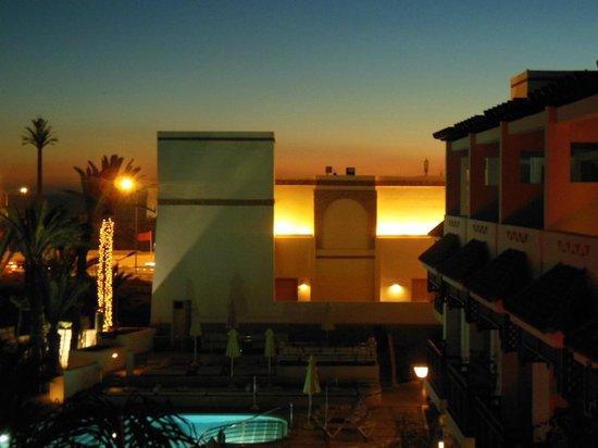 Hotel Timoulay & Spa Agadir: coucher de soleil depuis la chambre