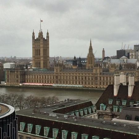 Park Plaza County Hall London: view from Balcony (1407)