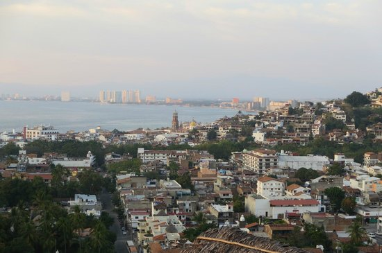 View from Casa Isabel to downtown Puerto Vallarta