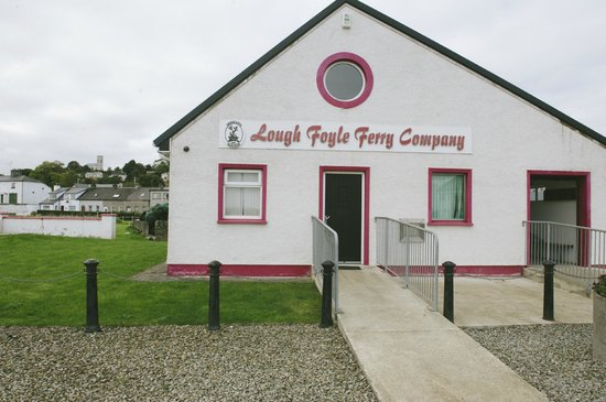 Lough Foyle Ferry: Greencastle Pier Office - tickets can be purchased on board the vessel. Toilets are provided.