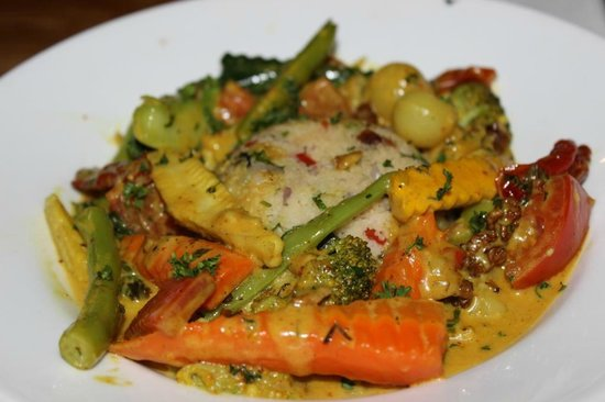 The Courtyard: Veg Dish with rice