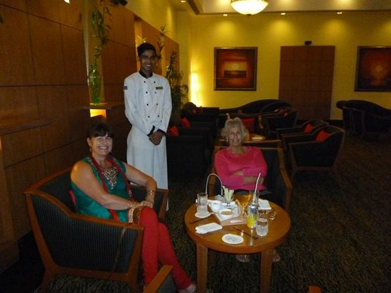 The Residency Towers : Mr Taraknath with two us in the 'Club Lounge'